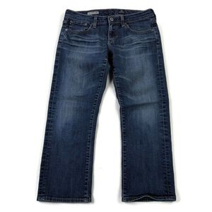 AG Adriano Goldschmied Tomboy Cropped Blue Jeans